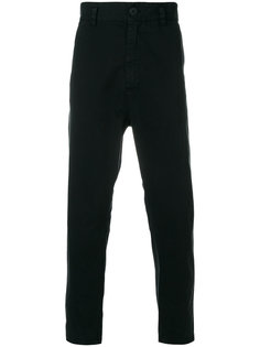 dropped crotch dropped trousers Ann Demeulemeester Grise