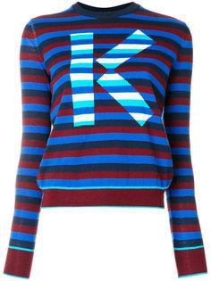 полосатый свитер с логотипом  Kenzo