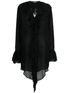 прозрачная блузка с оборками Twin-Set