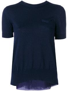 блузка с драпировкой сзади  Sacai