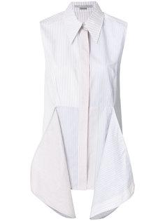 рубашка в полоску с драпировкой  Stella McCartney