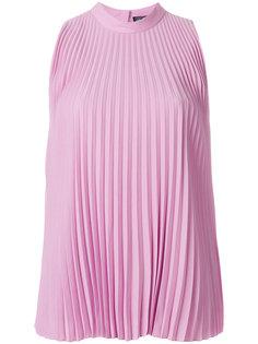 плиссированная блузка без рукавов  Salvatore Ferragamo