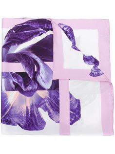 платок с принтом ирисов Salvatore Ferragamo
