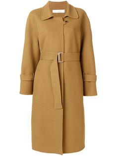 пальто миди с поясом  Victoria Beckham