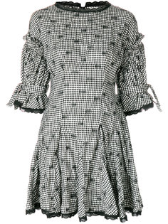 свободное расклешенное платье в клетку Jonathan Simkhai