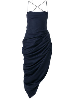 асимметричное платье на бретельках Jacquemus
