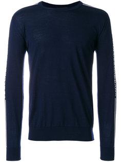 свитер с логотипом на рукавах Dolce & Gabbana