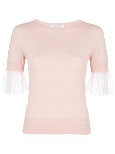 футболка с манжетами из тюля Blugirl