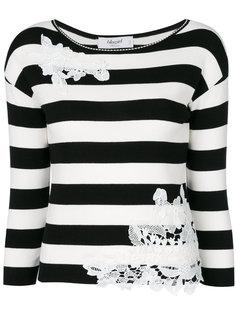 свитер с кружевной аппликацией Blugirl