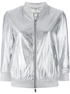 куртка-бомбер с отделкой металлик Blugirl