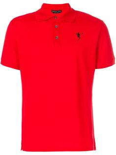 футболка-поло с принтом скелета Alexander McQueen