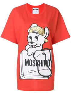 футболка с принтом Pudge Moschino