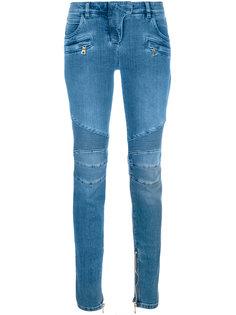 байкерские джинсы слим  Balmain
