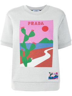 толстовка с принтом кактуса Prada