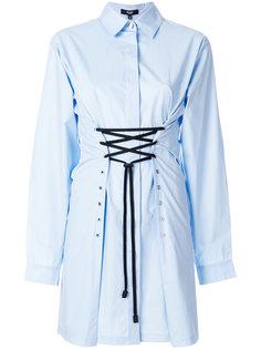 платье-рубашка с завязками  Versus