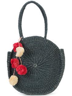 круглая сумка-тоут с помпонами Kayu