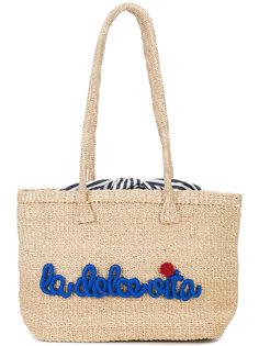 сумка-тоут с вышивкой Kayu