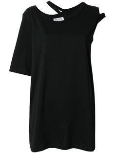 асимметричная футболка с вырезом  Maison Margiela