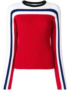 трикотажный свитер в полосками  Red Valentino