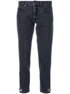 укороченные джинсы скинни с люверсами  Victoria Victoria Beckham
