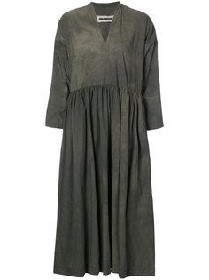 платье с V-образным вырезом и сборками  Uma Wang