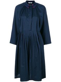 платье миди с вышивкой на воротнике Vivetta