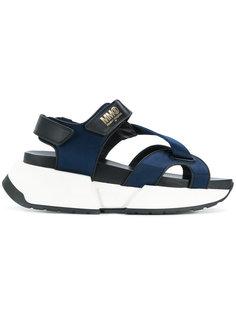 сандалии на платформе с перекрещивающимися лямками Mm6 Maison Margiela