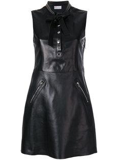 расклешенное платье с заклепками на воротнике  Red Valentino