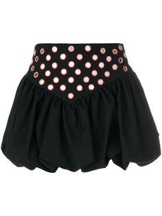 мини юбка с вышивкой Saint Laurent