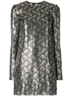 короткое платье с вышивкой Saint Laurent