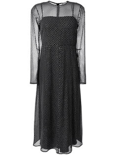 полупрозрачное платье в горох  Red Valentino