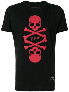 футболка с принтом черепов Philipp Plein