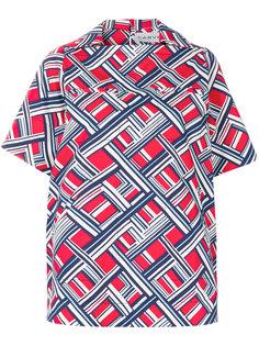 блузка с принтом Carreaux Carven