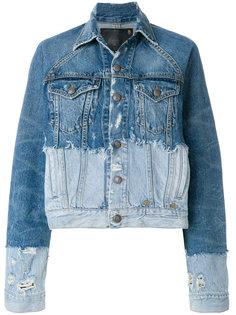 джинсовая куртка с контрастной отделкой  R13