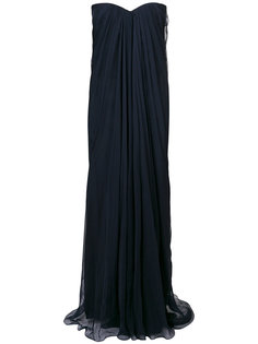 вечернее платье без бретелек  Alexander McQueen