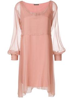 короткое платье-кейп  Alberta Ferretti
