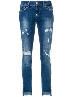 джинсы скинни с потертой отделкой Philipp Plein