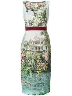 приталенное платье миди с цветочным принтом  Antonio Marras