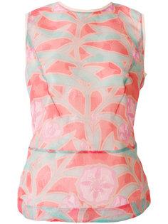 блузка без рукавов с цветочным принтом  Giorgio Armani
