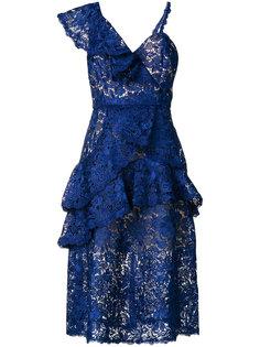 асимметричное кружевное платье Alice+Olivia