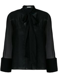 блузка с полупрозрачными рукавами  Alice+Olivia