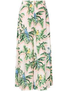 брюки-палаццо с принтом  Stella McCartney