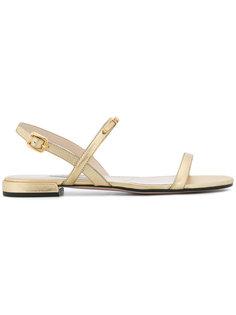 сандалии с логотипом Prada