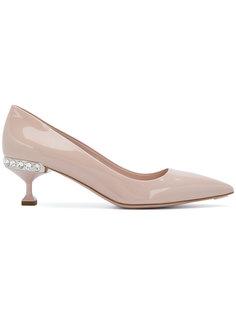 декорированные туфли на каблуках Miu Miu
