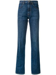 джинсы клеш с завышенной талией  La Fetiche