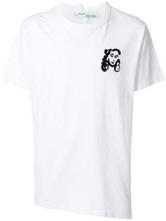 футболка с принтом лица Off-White