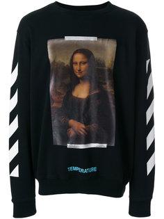 толстовка с принтом Mona Lisa Off-White