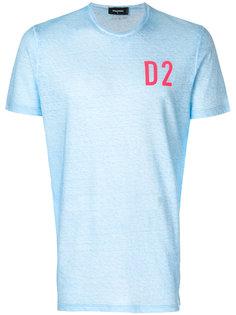футболка с принтом-логотипом D2 Dsquared2