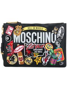 клатч с аппликацией Moschino