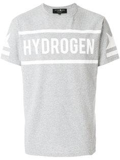футболка с принтом логотипом Hydrogen